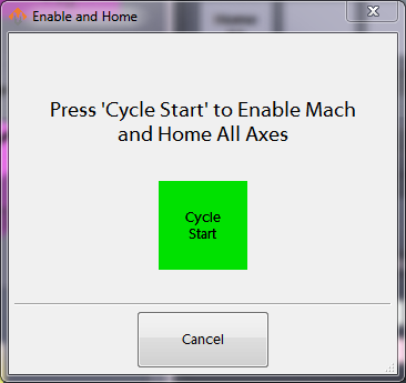 Enable and Home Dialog
